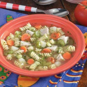 Chunky Turkey Vegetable Soup Recipe