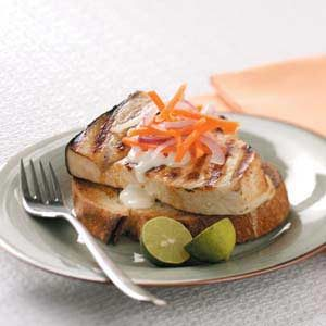 Open-Faced Swordfish Sandwiches Recipe