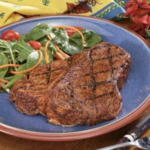 Peppered T-Bone Steaks Recipe