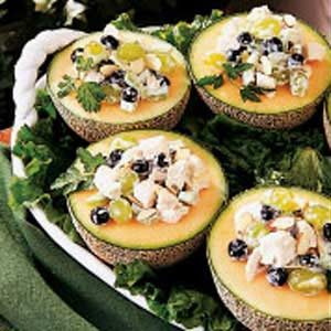 Cantaloupe with Chicken Salad Recipe