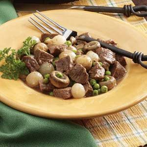 Mushroom-Onion Beef Stew Recipe