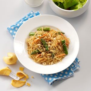 Asian Vegetable Pasta Recipe