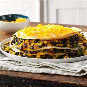 Black Bean Tortilla Pie Recipe