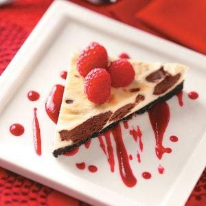 Chocolate Cheesecake Triangles Recipe