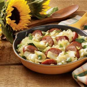 Fast Kielbasa Cabbage Skillet Recipe
