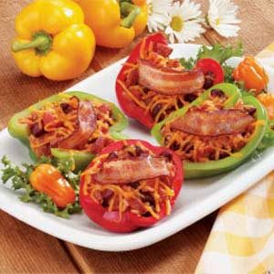 Smoked Sausage-Stuffed Peppers Recipe