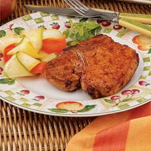 Sweet 'n' Spicy Pork Chops Recipe