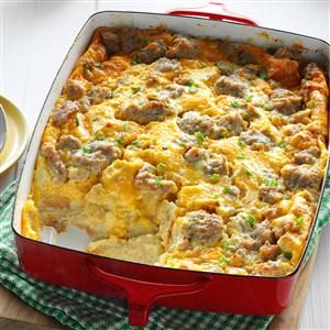 Overnight Egg Casserole Recipe