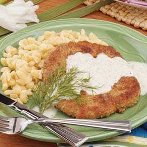Pork Schnitzel with Sauce Recipe