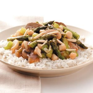 Asparagus Scallop Stir-Fry Recipe