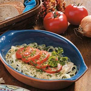 Tomato-Topped Sole Recipe