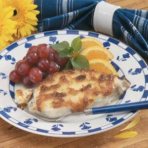 Cheese-Topped Swordfish Recipe
