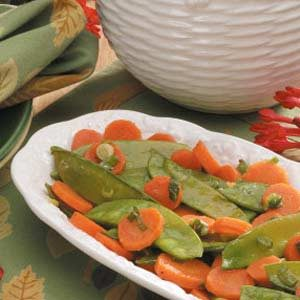 Glazed Carrots and Snow Peas Recipe