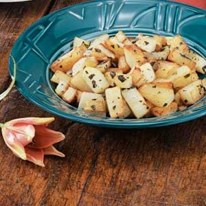 Oregano Cubed Potatoes
