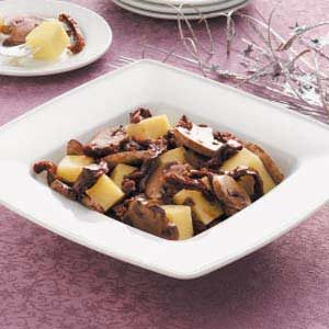 Marinated Mushrooms and Cheese