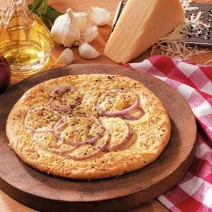 Red Onion Foccacia for Two Recipe