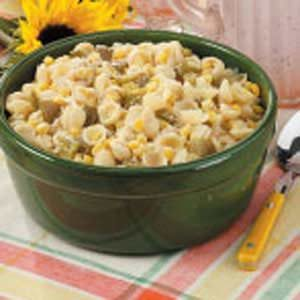 Parmesan Pasta and Corn