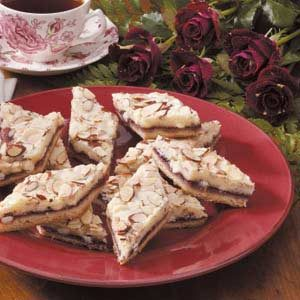 Almond Raspberry Diamonds