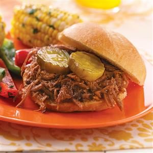 Shredded Barbecue Beef Sandwiches Recipe