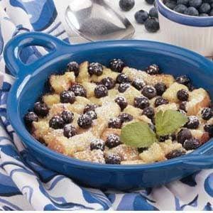 Blueberry Bread Pudding Recipe