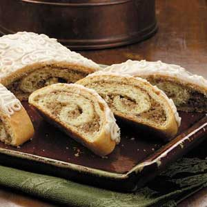 Nut Roll Coffee Cakes Recipe