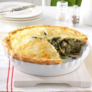 Italian Sausage and Spinach Pie Recipe