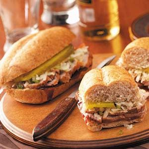 Barbecued Pork Hoagies Recipe