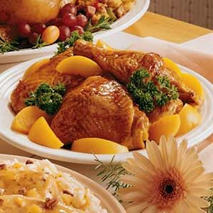 Chicken with Peaches Recipe