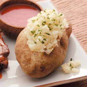 Two-Cheese Baked Potatoes Recipe