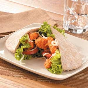 Nacho Chicken Pitas Recipe