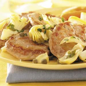 Pork with Artichokes and Capers Recipe