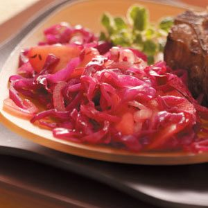 Low-Sodium Red Cabbage with Apples Recipe