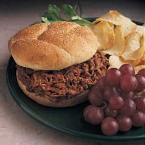 Barbecued Beef on Buns Recipe