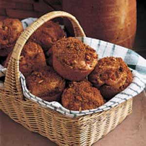 Nutty Rhubarb Muffins Recipe