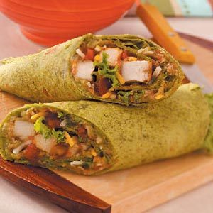 Guacamole Chicken Wraps Recipe