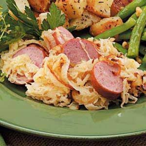 Sausage with Apple Sauerkraut Recipe