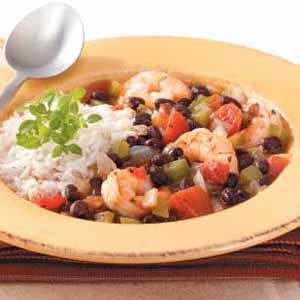 Shrimp 'n' Black Bean Chili Recipe