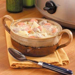 Creamy Cabbage-Pork Stew Recipe