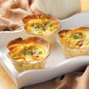 Broccoli Quiche Crepe Cups Recipe