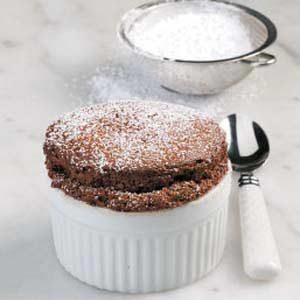 Easy Chocolate Souffles Recipe