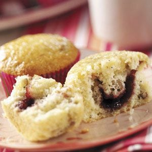 Raspberry-Filled Poppy Seed Muffins Recipe