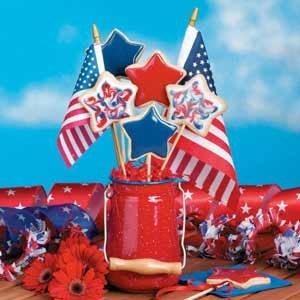 Patriotic Cookie Bouquets Recipe