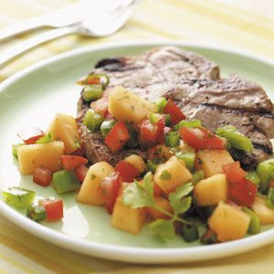 Grilled Pork Chops with Cilantro Salsa Recipe