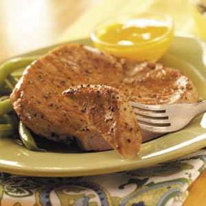 Broiled Pork Chops with Mango Sauce Recipe