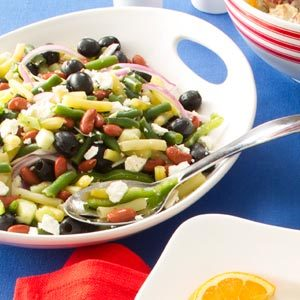 Greek Three-Bean Salad Recipe