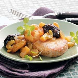 Chops with Mixed Fruit Recipe