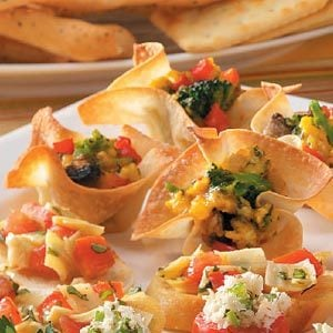 Veggie Wonton Quiches Recipe