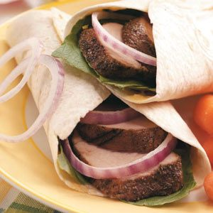 Tuscan Pork Wraps Recipe