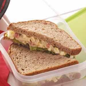 Roasted Pepper 'n' Egg Salad Sandwiches Recipe