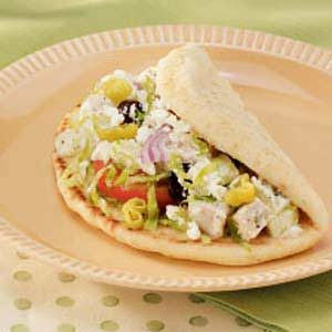 Greek Turkey Pitas Recipe